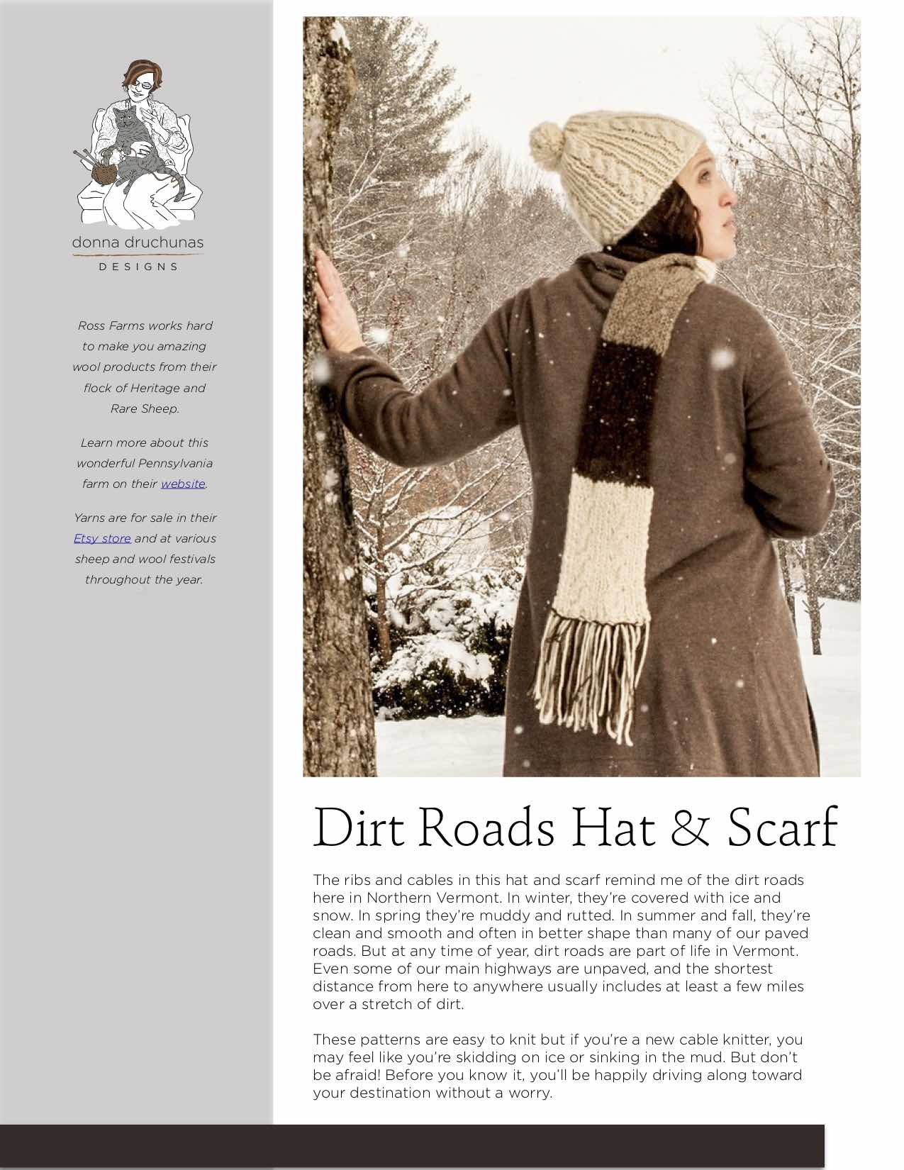3c79753c3c7 Dirt Roads Hat   Scarf Knitting Pattern 2