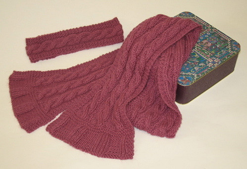 Easy Cable Scarf And Headband Knitting Pattern Sheep To Shawl Llc