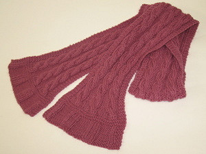 Easy Cable Scarf and Headband Knitting Pattern 2