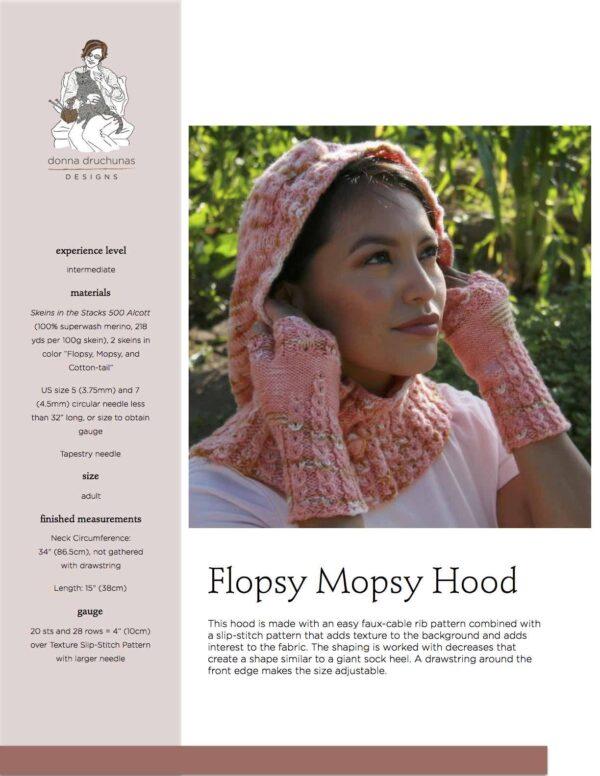 Flopsy Mopsy Hood Knitting Pattern 1
