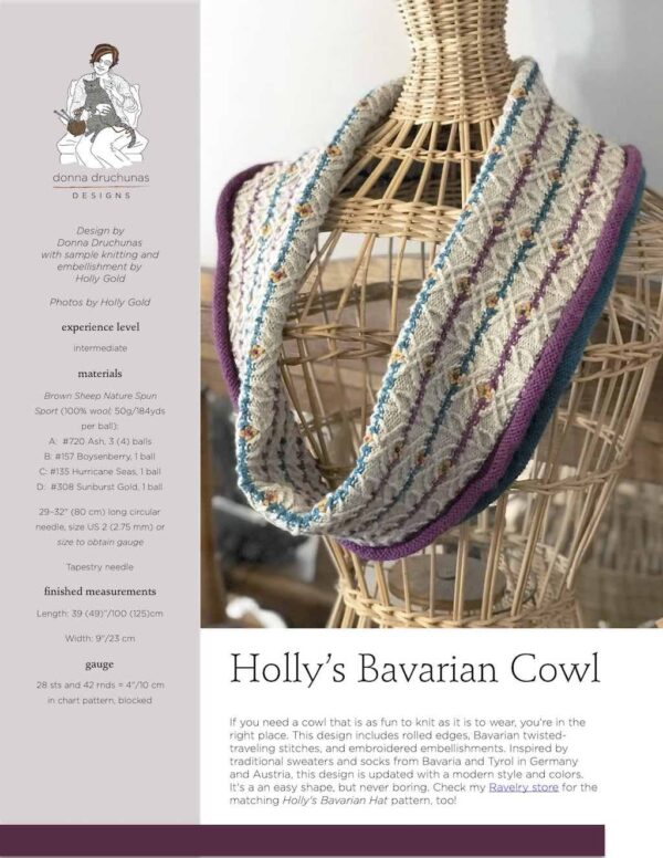 Holly's Bavarian Cowl Knitting Pattern 1