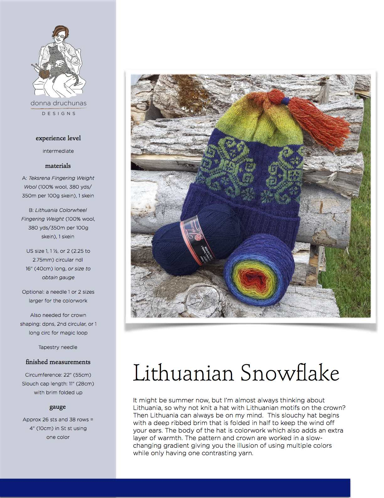 Lithuanian Knitting Patterns : Lithuanian Snowflake Knitting Pattern Sheep To Shawl, LLC