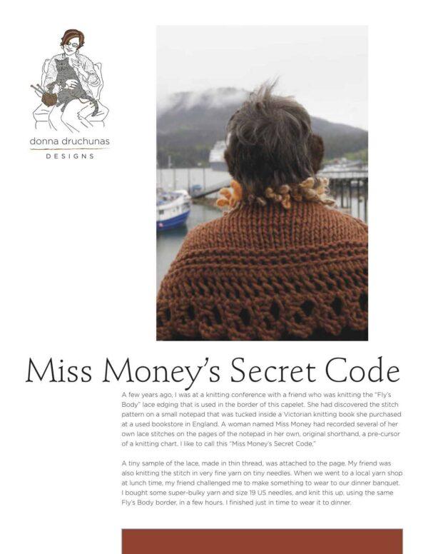 Miss Money's Code Knitting Pattern 1