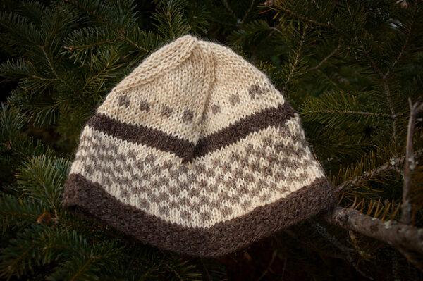 Checker Cab Cap Hat Knitting Pattern 4