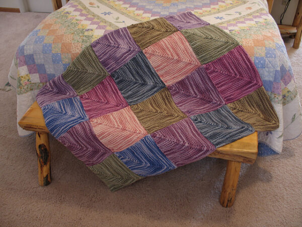Mitered Square Patchwork Rug Knitting Pattern 3