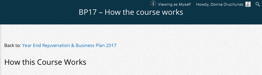 BP17 - How the course works 1