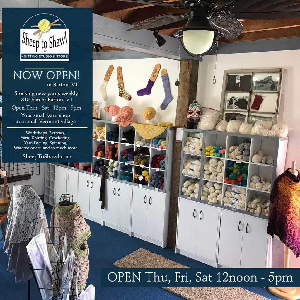 Sheep to Shawl Studio Now Open