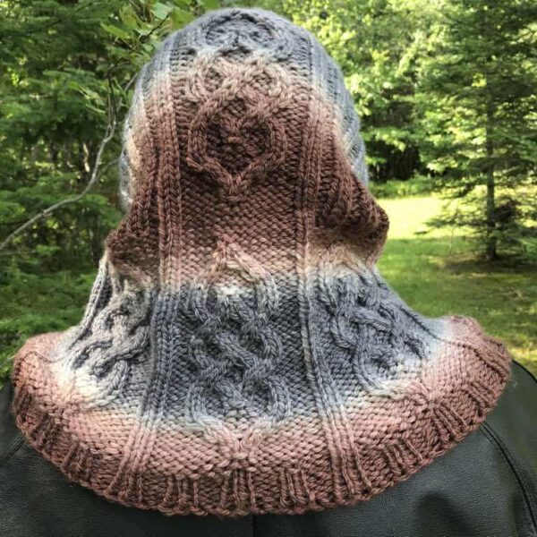 Parts Unknown Knitted Hood Cowl Pattern 9