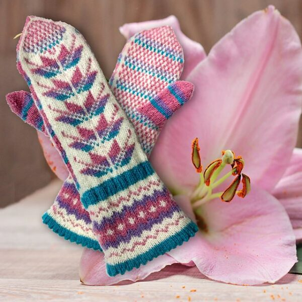 Easter Lily Mittens Pattern 2