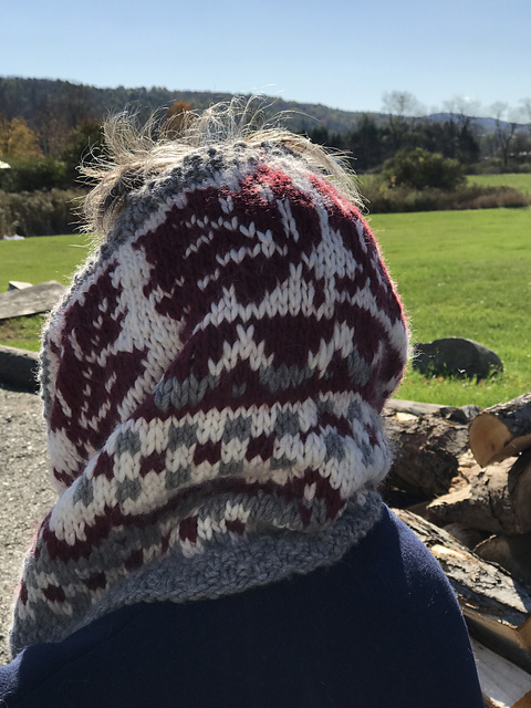 Crossing Into Canada Hood/Cowl Pattern 8