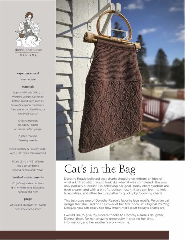 Cat's in the Bag Pattern 1