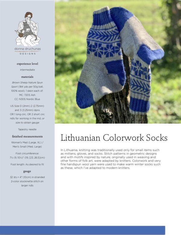 Lithuanian Colorwork Socks Pattern 1