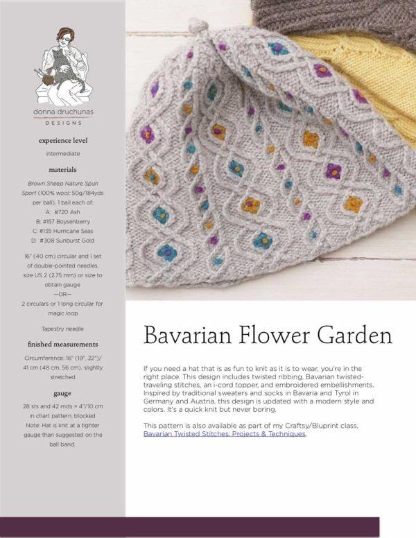 Bavarian Flower Garden Hat Pattern 1