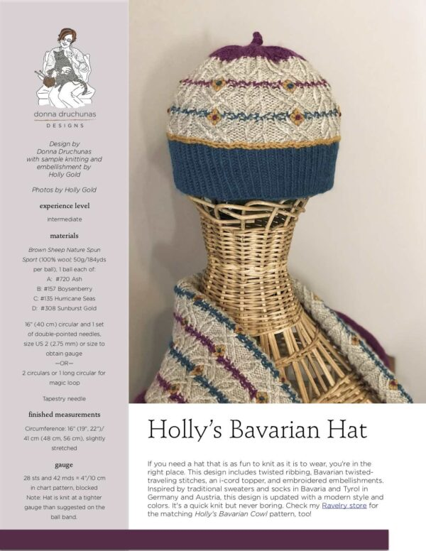 Holly's Bavarian Hat Pattern 1