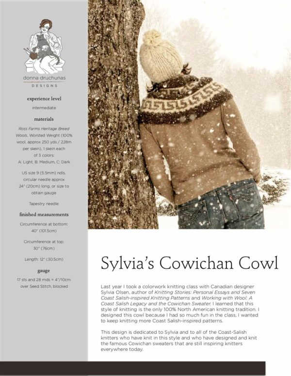 Sylvia's Cowichan Cowl Pattern 1