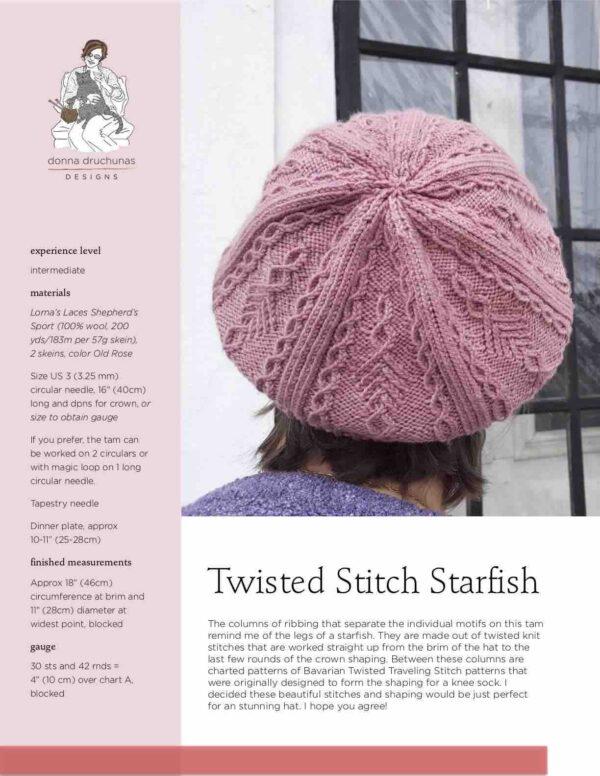 Twisted Stitch Starfish Pattern 1
