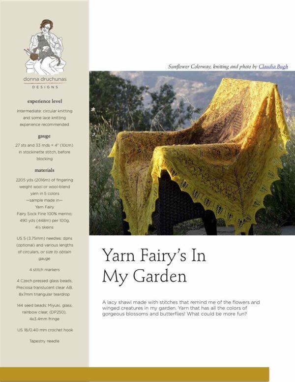 Yarn Fairy's In My Garden Shawl Pattern 1