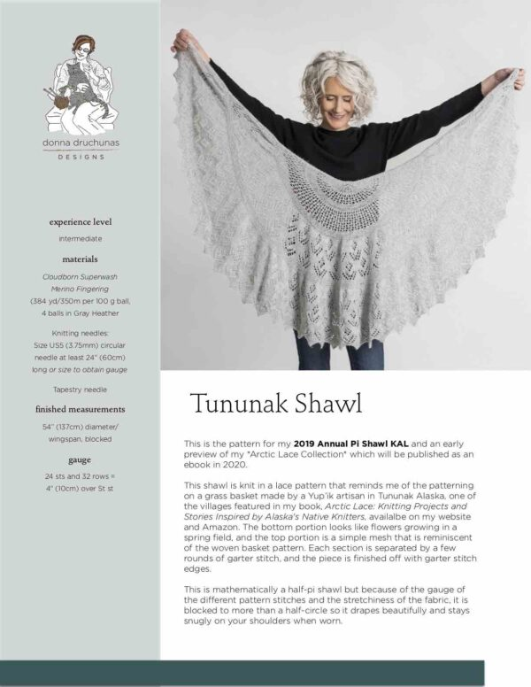 Tununak Shawl Shawl Pattern 1