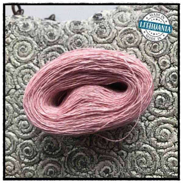 Linen Yarn From Lithuania - 2 ply Dusty Pink 1
