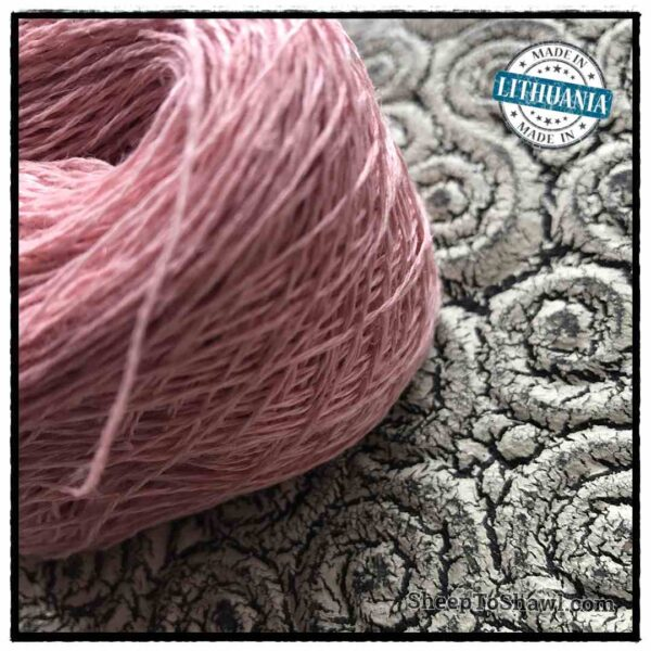 Linen Yarn From Lithuania - 2 ply Dusty Pink 2
