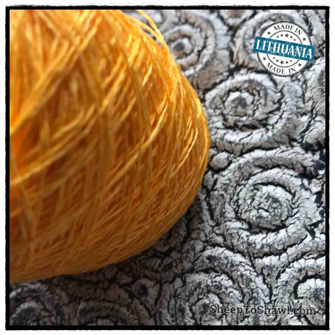 Linen Yarn From Lithuania - 2 ply Bright Yellow 2
