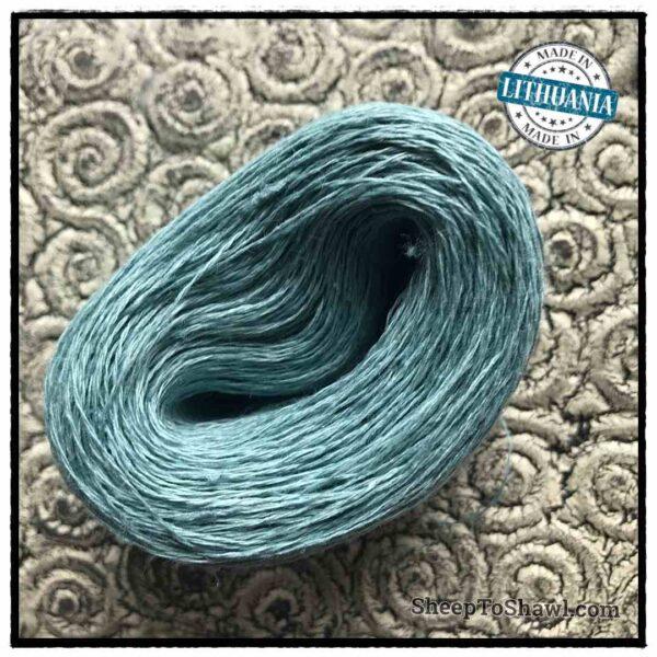 Linen Yarn From Lithuania - 2 ply Light Khaki Green 1