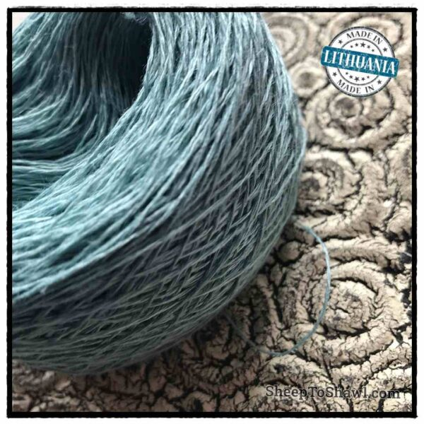 Linen Yarn From Lithuania - 2 ply Light Khaki Green 2