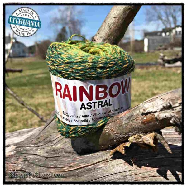 Rainbow Astral Yarn – Green|Yellow- R18 1
