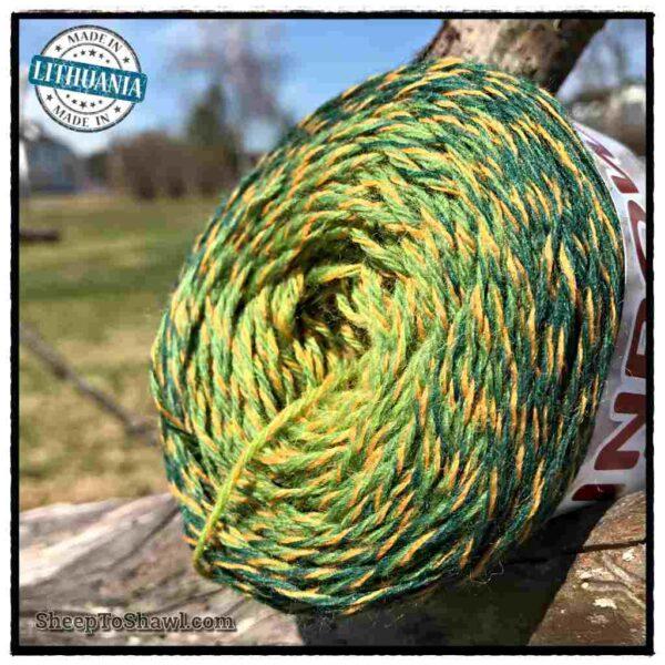 Rainbow Astral Yarn – Green|Yellow- R18 2