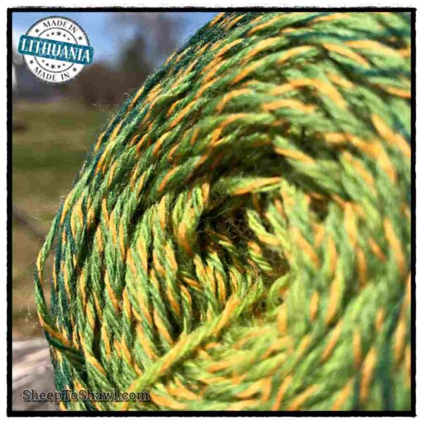 Rainbow Astral Yarn – Green|Yellow- R18 3
