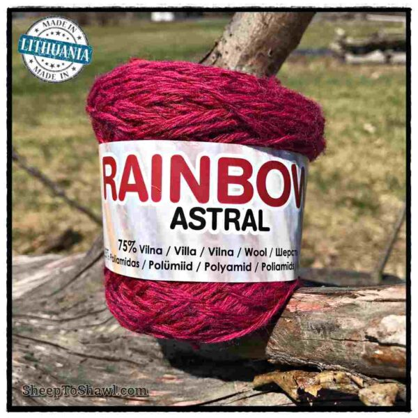 Rainbow Astral Yarn - Berry - R19 1