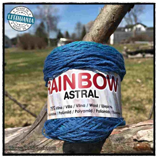 Rainbow Astral Yarn - Light Blue|Raspberry - R8 1
