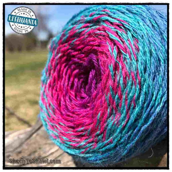 Rainbow Astral Yarn - Light Blue|Raspberry - R8 3