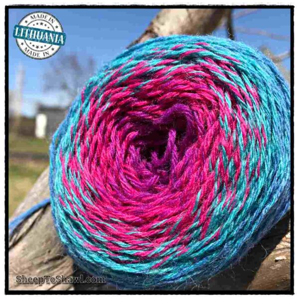 Rainbow Astral Yarn - Light Blue|Raspberry - R8 2