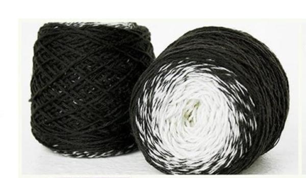 Rainbow Astral Yarn- Black|Grey|White - R1 3
