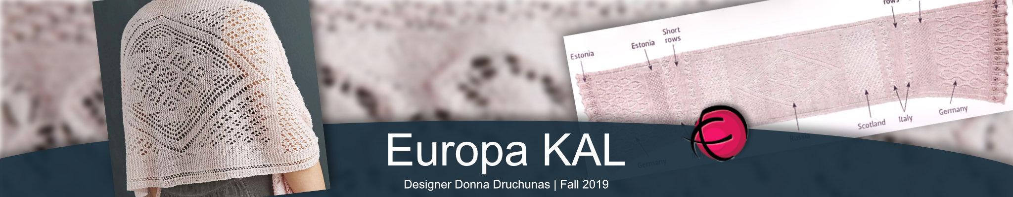 Europa Shawl Knit Along   Late Sept. 2019 1