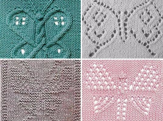 Butterfly Motifs to Knit 1