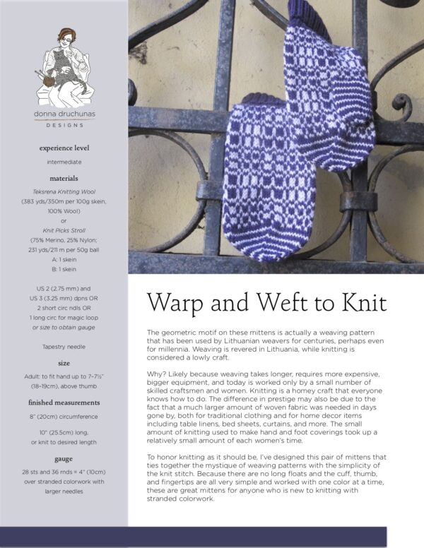 Warp and Weft to Knit Pattern 1