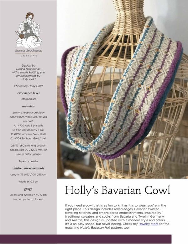 Holly's Bavarian Cowl Pattern 1