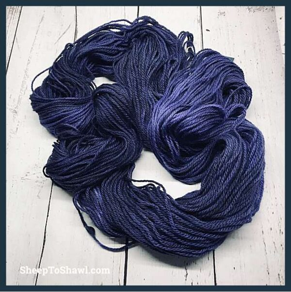 Sheep to Shawl Yarns - 1011 - Purple Black 2