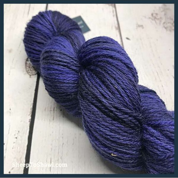 Sheep to Shawl Yarns - 1011 - Purple Black 3
