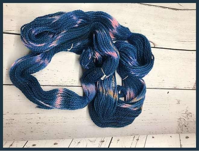 Sheep to Shawl Yarns - 1013 - Pink Tan Navy Blue 2