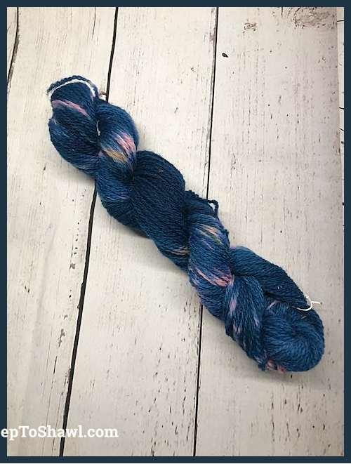Sheep to Shawl Yarns - 1013 - Pink Tan Navy Blue 1
