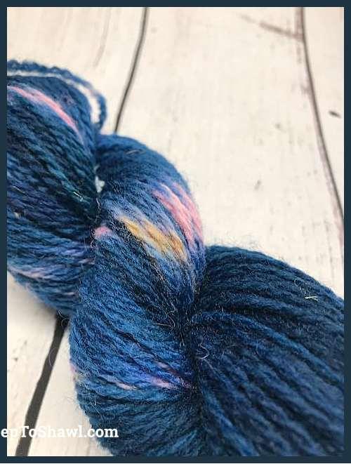 Sheep to Shawl Yarns - 1013 - Pink Tan Navy Blue 3