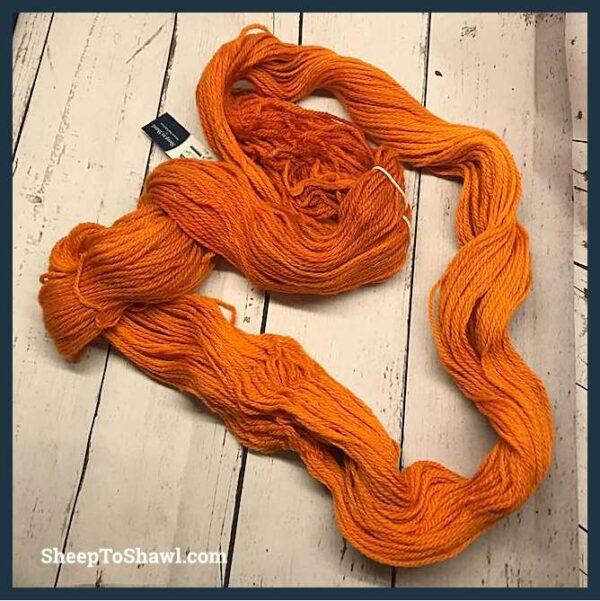 Sheep to Shawl Yarns - 1005 - Dark Orange 4