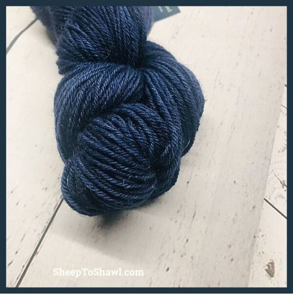 Sheep to Shawl Yarns – 1032 - Navy Blue Marble 2