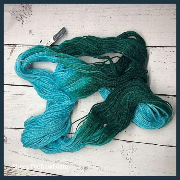 Sheep to Shawl Yarns - 1007 - Dark Green Turquoise 5