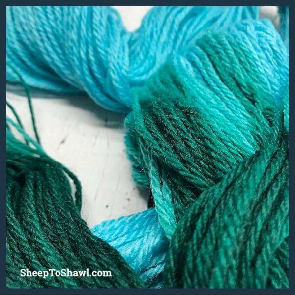 Sheep to Shawl Yarns - 1007 - Dark Green Turquoise 2
