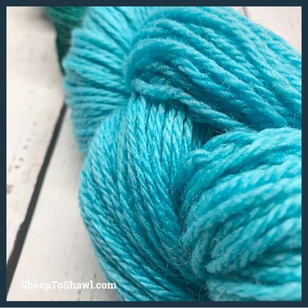Sheep to Shawl Yarns - 1007 - Dark Green Turquoise 3