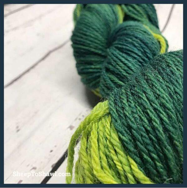 Sheep to Shawl Yarns - 1004 - Green 3